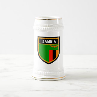 Zambia Flag Beer Stein