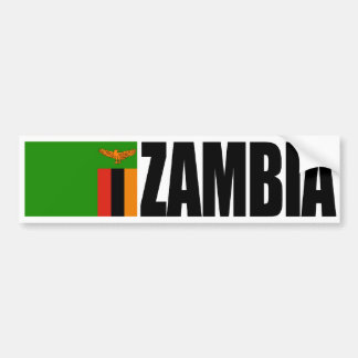 Zambia Flag Bumper Sticker