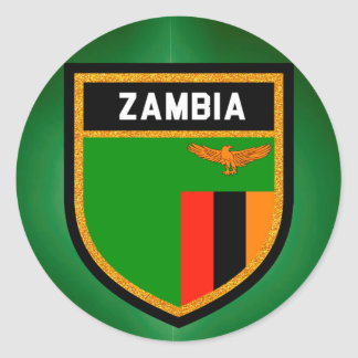 Zambia Flag Classic Round Sticker