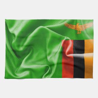 Zambia Flag Kitchen Towel