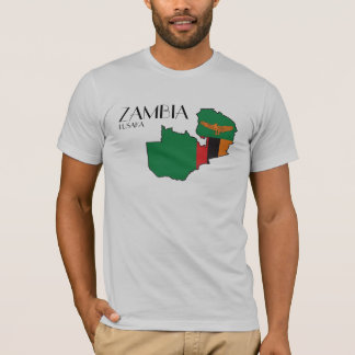 Zambia Flag Map Shirt