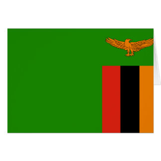 Zambia Flag Note Card