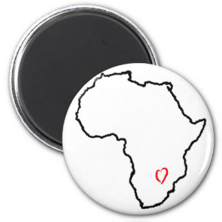 Zambia Heart Magnet