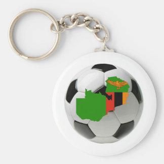 Zambia national team basic round button key ring