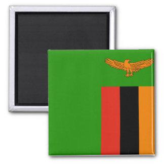 Zambia National World Flag Magnet