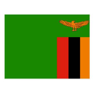 Zambia National World Flag Postcard