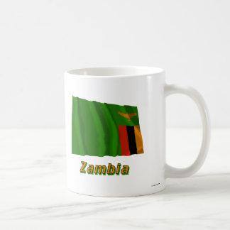 Zambia Waving Flag with Name Mugs