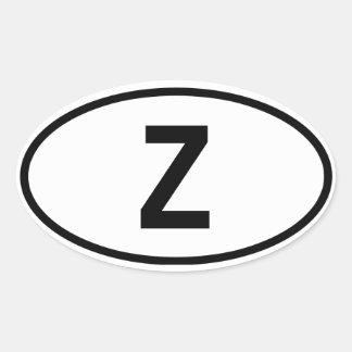 """Zambia """"Z"""" Oval Sticker"""
