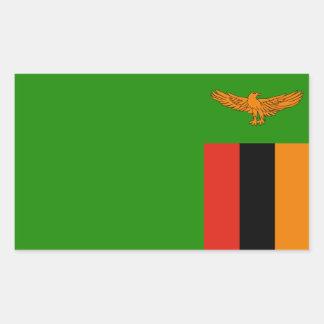 Zambia/Zambian Flag Rectangular Sticker