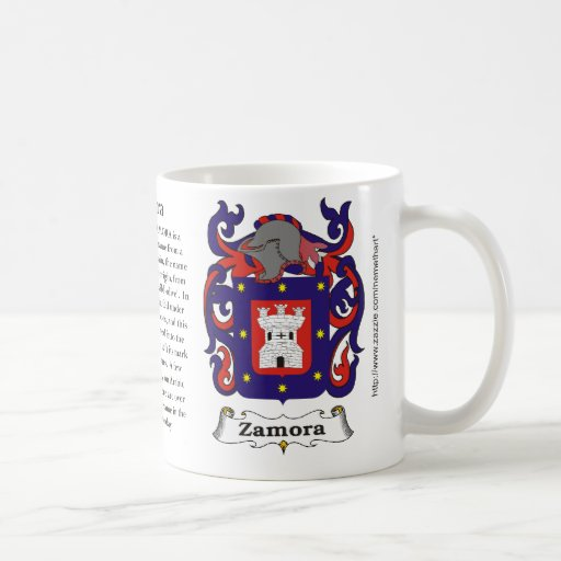 Zamora, the origin, meaning and the crest mugs