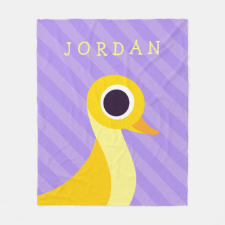 Zander the Duck Fleece Blanket
