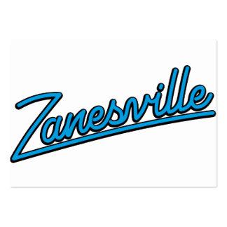 Zanesville in cyan business card templates