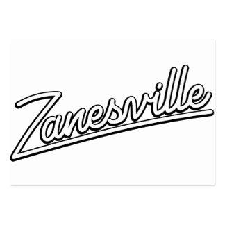 Zanesville in white business card