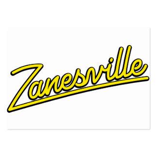 Zanesville in yellow business card