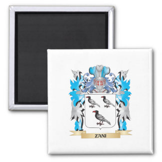 Zani Coat of Arms - Family Crest 2 Inch Square Magnet