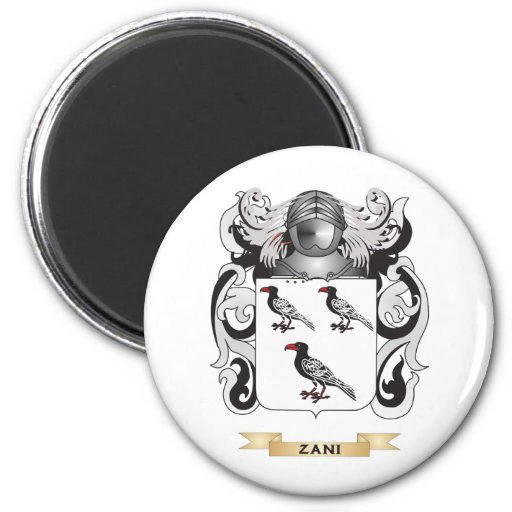 Zani Family Crest (Coat of Arms) Refrigerator Magnets