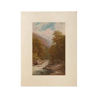 ZANKOVSKY, ILYA (1832-1919) Forest River.jpg Wood Poster