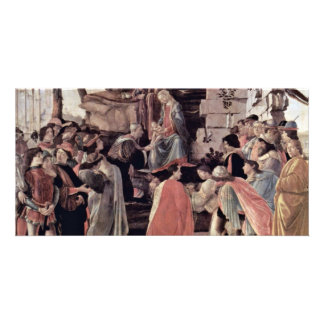 Zanobi Altar Of The Adoration Of The Magi, With Photo Greeting Card