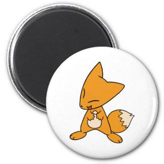 Zany Fox 6 Cm Round Magnet