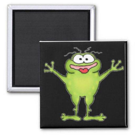Zany Frog Magnet