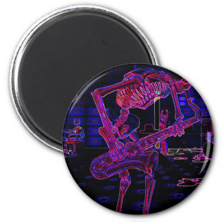 Zany Halloween Music Gifts and Party Favors! 6 Cm Round Magnet
