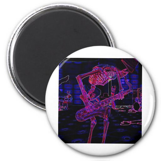 Zany Halloween Music Gifts and Party Favors! Refrigerator Magnet