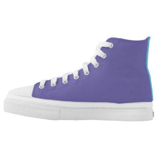 zany purple shoes