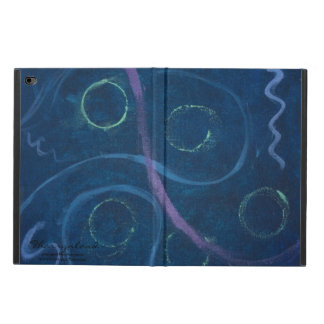 Zany Tech | Trendy Chic Chalk Pastel Blue Doodle Powis iPad Air 2 Case