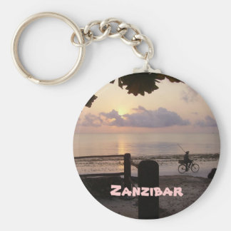 Zanzibar Basic Round Button Key Ring