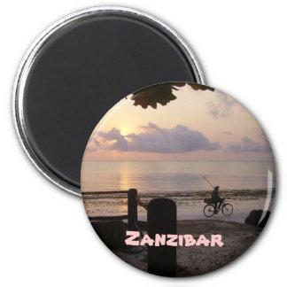 Zanzibar dawn 6 cm round magnet