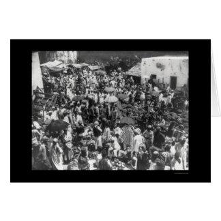Zanzibar Fruit Market 1902 Card