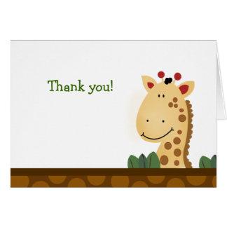 Zanzibar GIRAFFE Birthday Folded Thank you note Card
