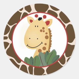 Zanzibar Giraffe Envelope Seals / Cupcake Toppers