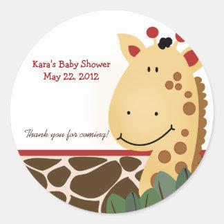 Zanzibar Jungle Giraffe print Custom Favor Sticker