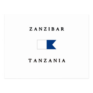 Zanzibar Tanzania Alpha Dive Flag Postcards