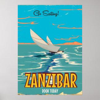 Zanzibar vintage poster