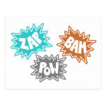 ZAP BAM POW Comic Sound FX - Orange