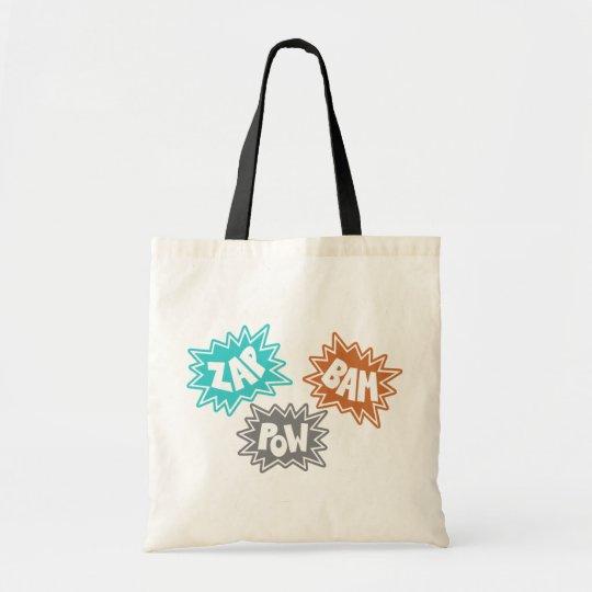 ZAP BAM POW Comic Sound FX - Orange Tote Bag