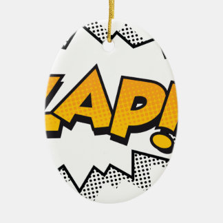zap ceramic ornament