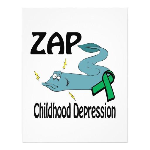 ZAP Childhood Depression Flyer Design
