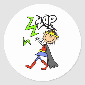 ZAP Girl Hero Classic Round Sticker