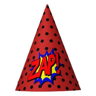 Zap Pop Art Cartoon Superpower Birthday Hat