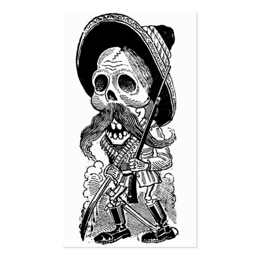 Zapatista  Calavera. c. early 1900's. Mexico. Pack Of Standard Business Cards