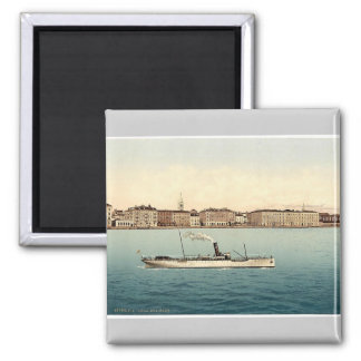 Zara, from the sea, Dalmatia, Austro-Hungary rare Square Magnet