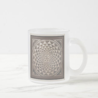 Zaragoza Salduba Geometric Mosaic Frosted Glass Coffee Mug