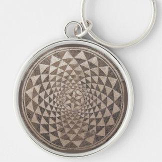 Zaragoza Salduba Geometric Mosaic Key Chains