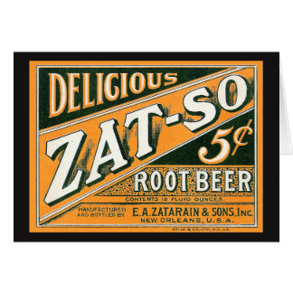 Zat-So 5¢ Root Beer Card