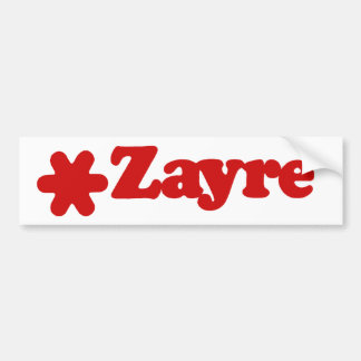 Zayre Bumper Sticker