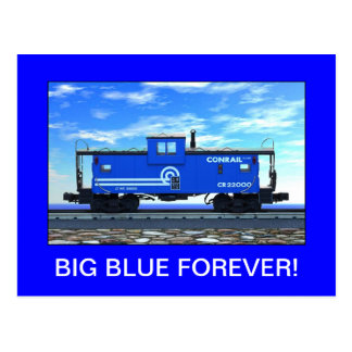 ZAZ420 BIG BLUE FOREVER! POSTCARD