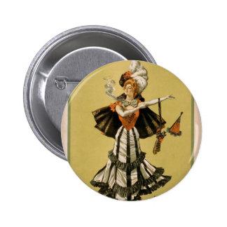 Zaza, 'Mrs Leslie Carter' Vintage Theater 6 Cm Round Badge